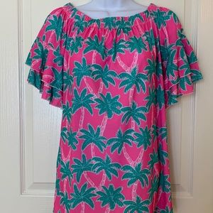 Simply Southern Pink Palm Tree Top SZ S
